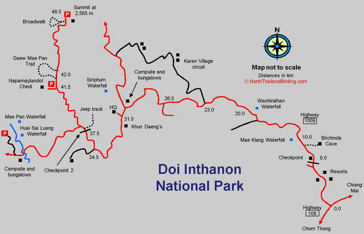 Doi Inthanon Map