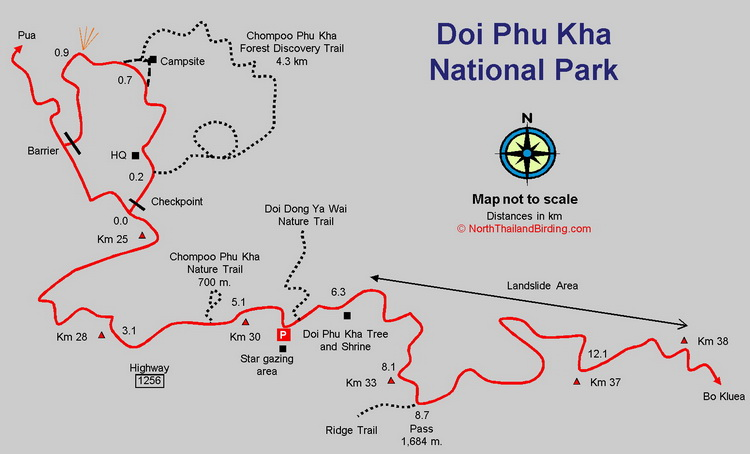 Doi Phu Kha map
