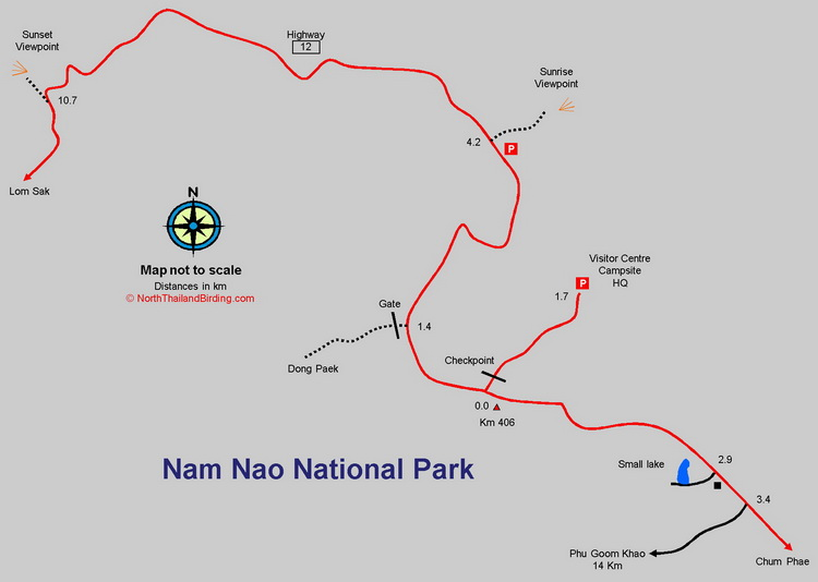 Nam Nao Trails map