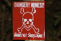 Mines sign